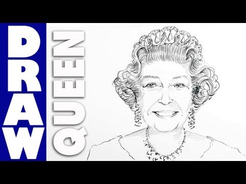 How To Draw Queen Elizabeth Ii Real Easy Shoo Rayner Author