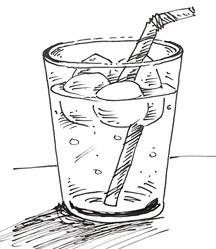 glass of water drawing easy sketch