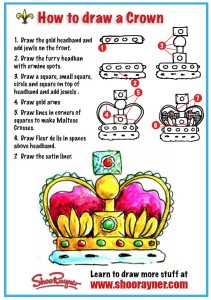 how to draw a crown shoo rayner author