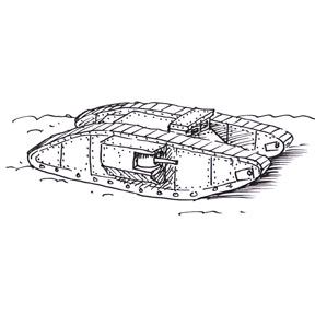 How to draw a World War 1 Tank | Shoo Rayner