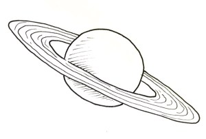 Draw The Planet Saturn Real Easy Shoo Rayner Author
