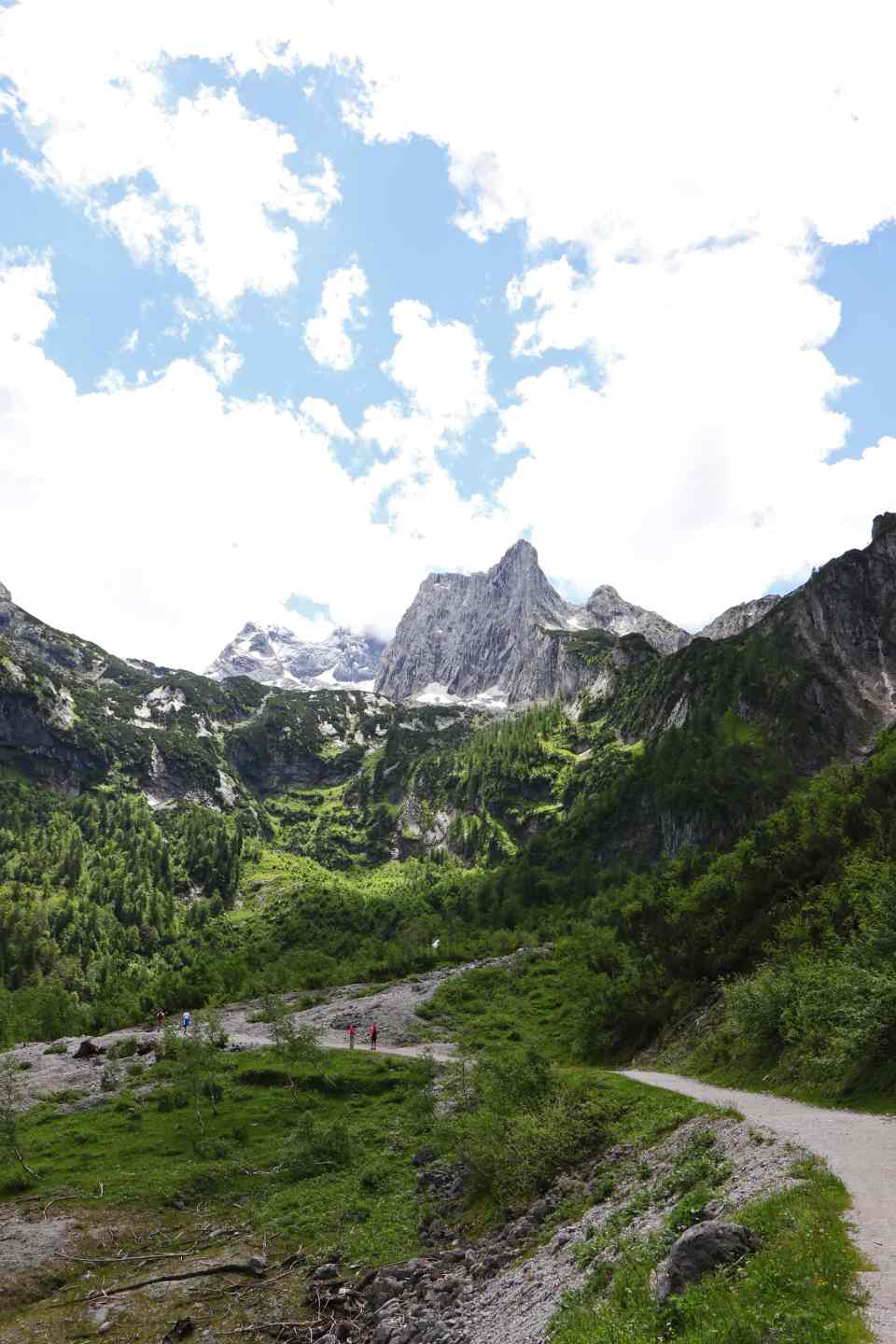 The hiking trail to Hinterer Gosausee from Lake Gosau