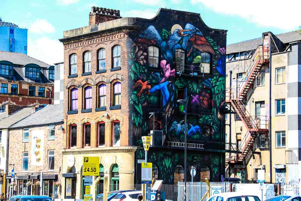 Exploring the street art of the Northern Quarter during 48 hours in Manchester