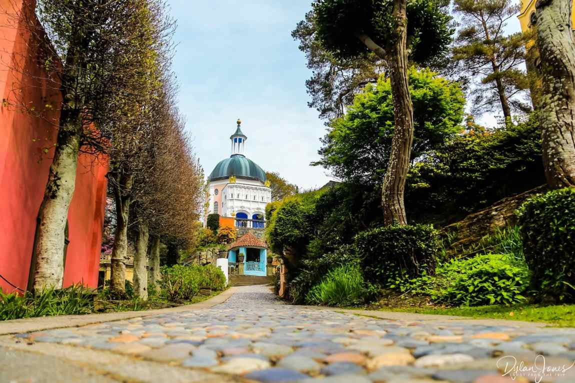 A cobbled street in Portmeirion Village