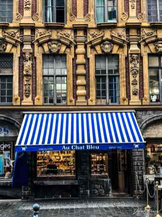 Au chat bleu chocolate shop in lille