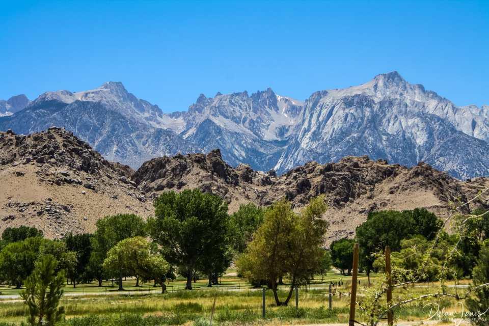 Eastern Sierra views of the high sierra from lone pine