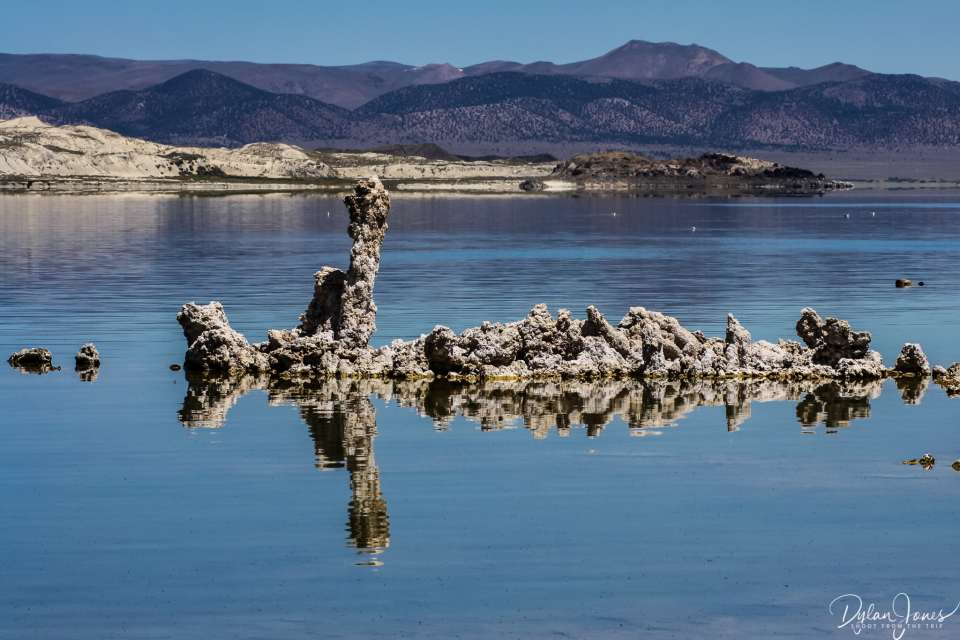 Eastern Sierra perfect reflections on Mono Lake