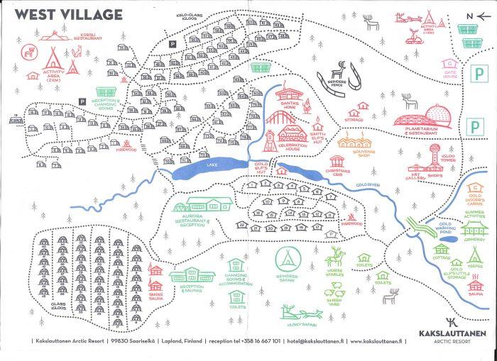 Map of Kakslauttanen West Village