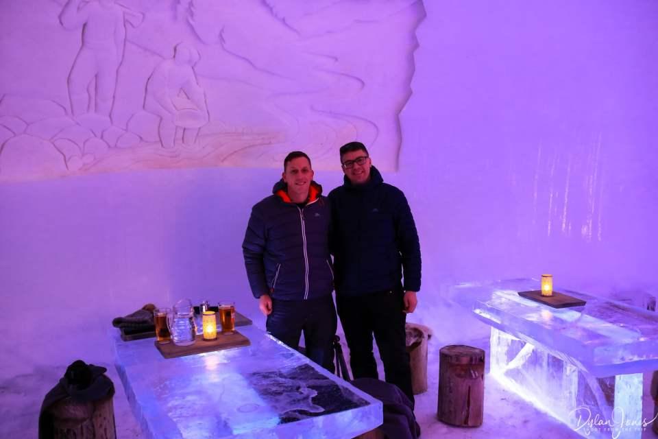 Obligatory photo at the Ice Restaurant Saariselkä Lapland