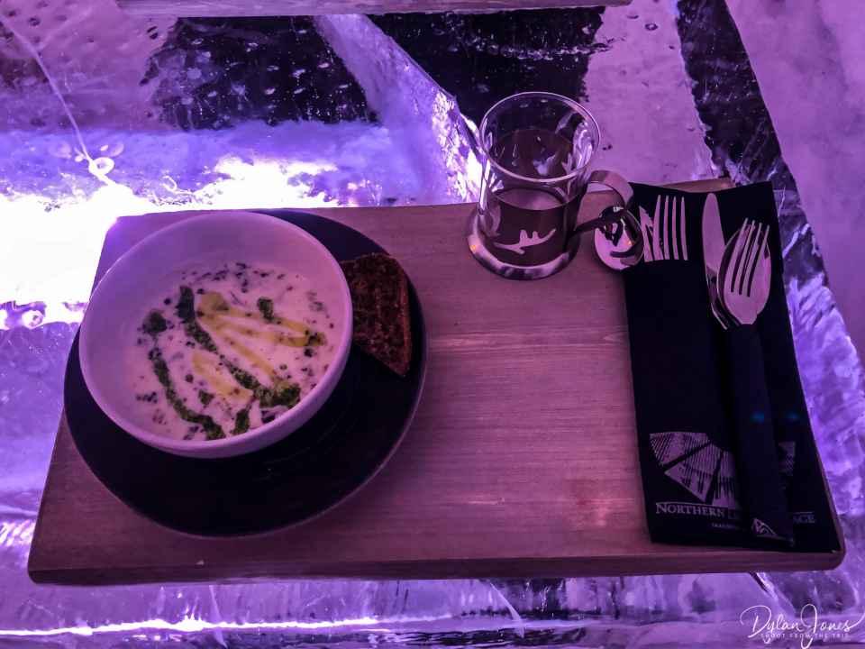 Mushroom soup starter Saariselkä Lapland