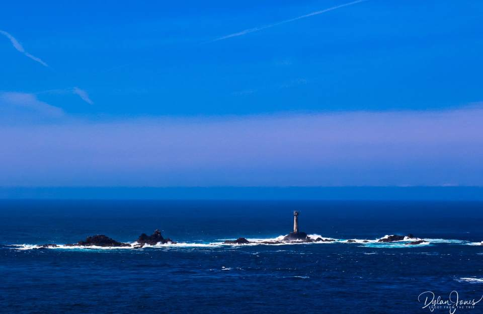 Longships Lighthouse off the coast of Land's End, South Cornwall coast