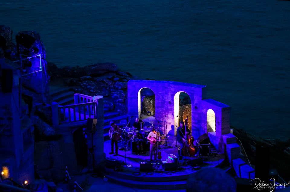 Darkness falls at the Minack Theatre on the South Cornwall Coast