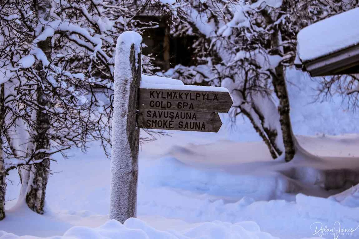 This way to the Smoke Sauna Saariselkä Lapland