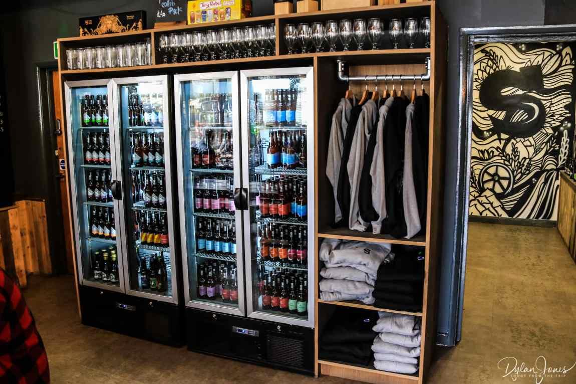 Tap Yard shop at Siren Craft Brewery