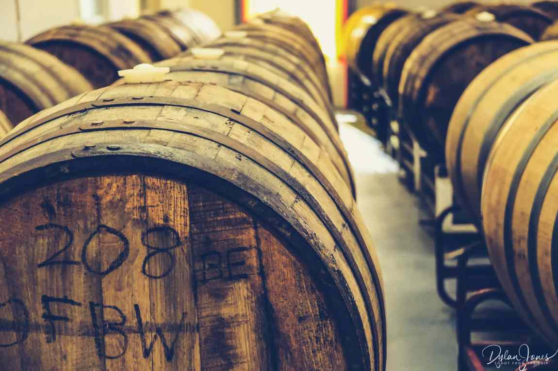 Barrel store at Siren Craft Brewery