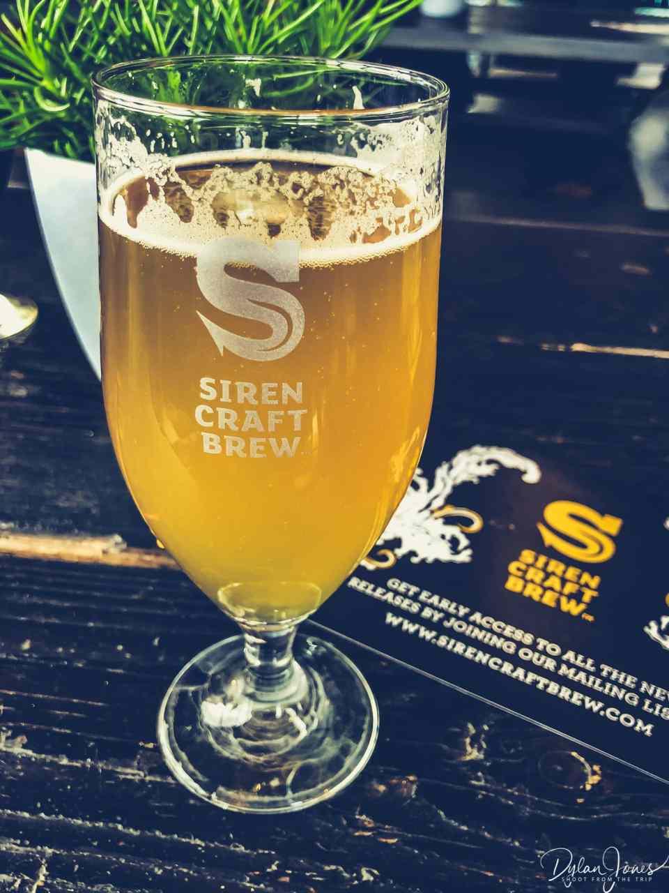 Sampling a Yulu at the Siren Craft Brewery