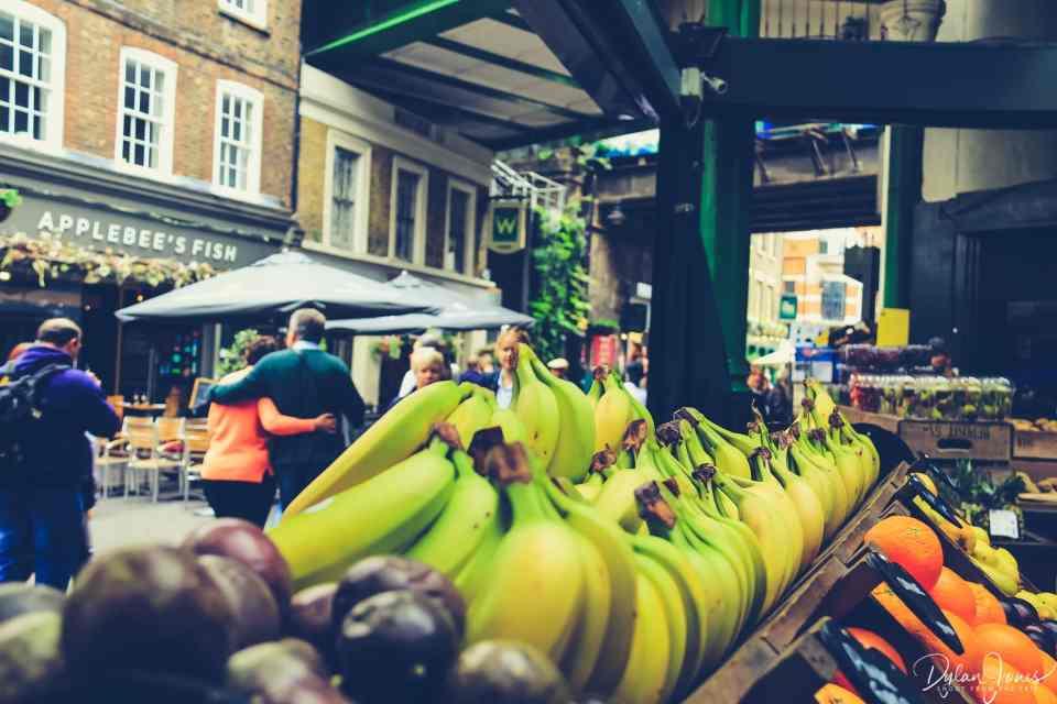 Borough Market street scene in the London Bridge area