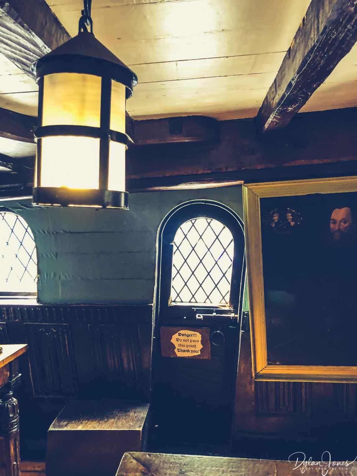 Interior shot of The Golden Hinde