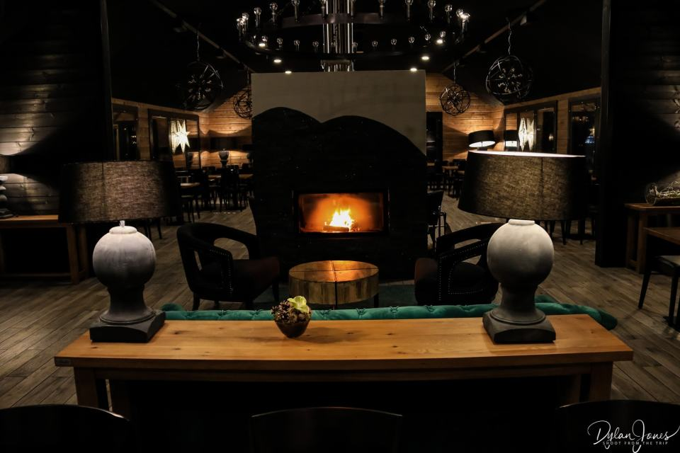 A cosy fireplace - a perfect spot for an after dinner drink or two