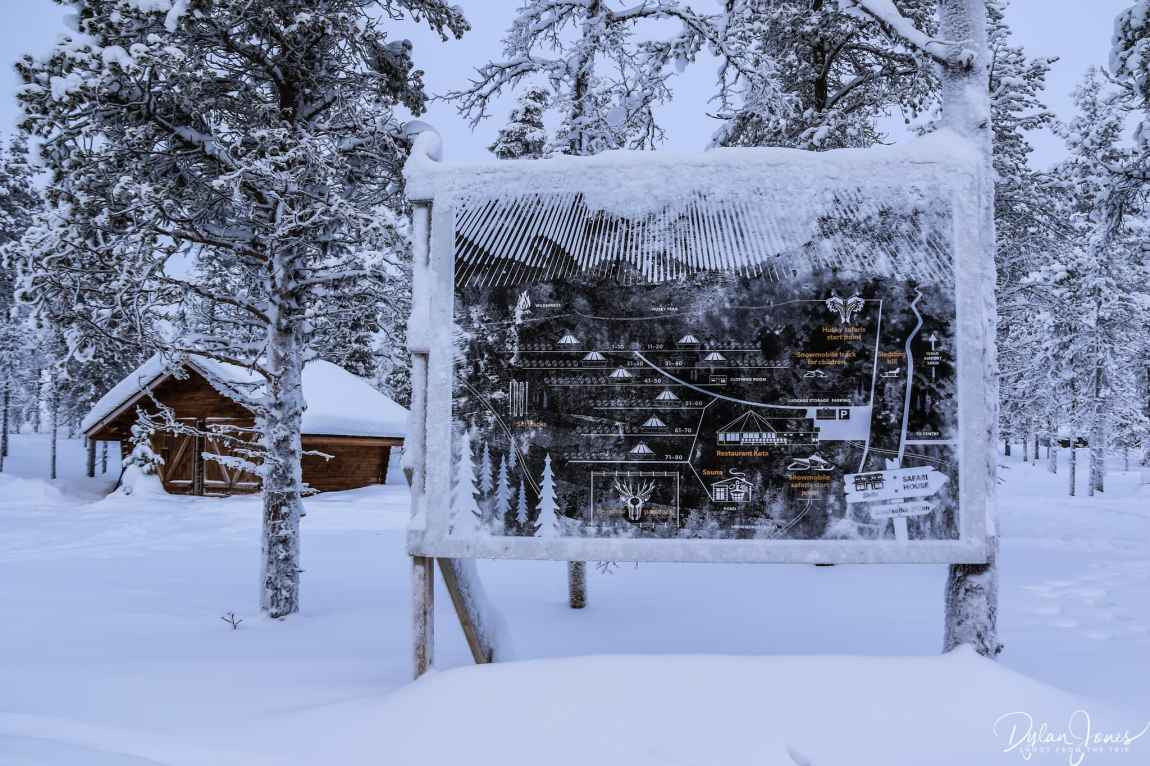 Resort map at the Northern Lights Village Saariselka