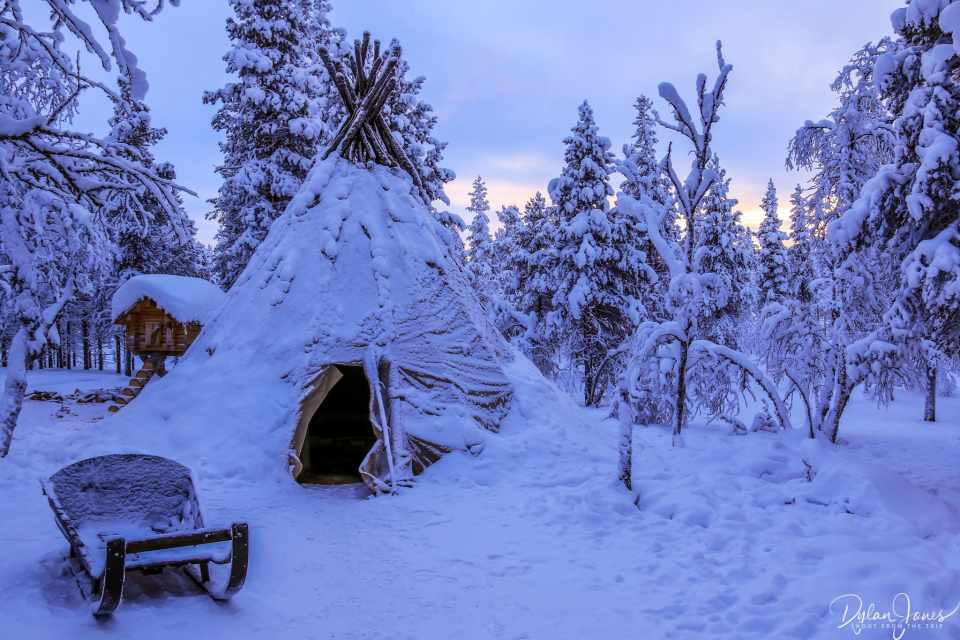 The Teepee and Sled at the Reindeer Paddock