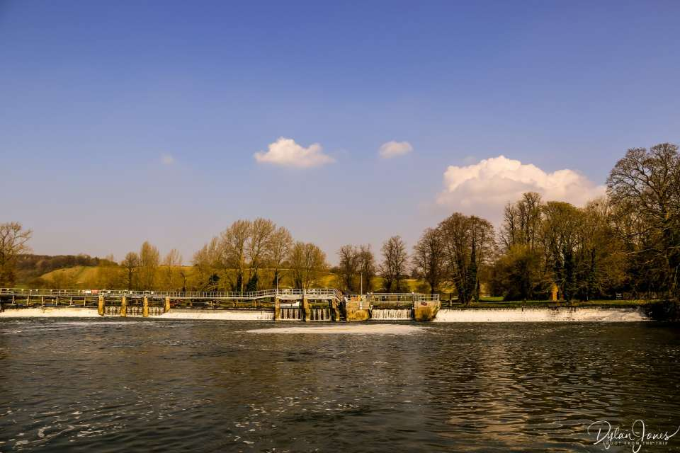 Mapledurham Lock - the turning point of the river cruise