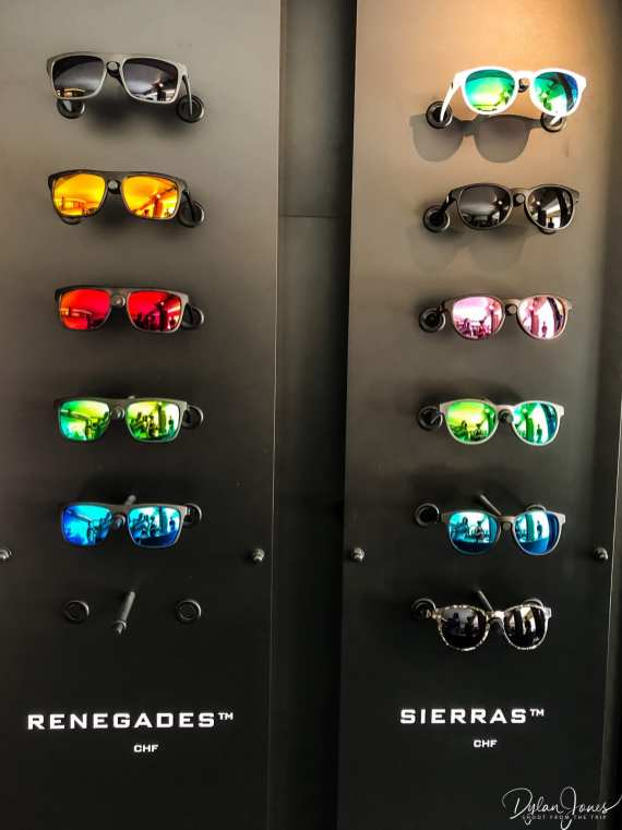 A selection of sunglasses at SunGod