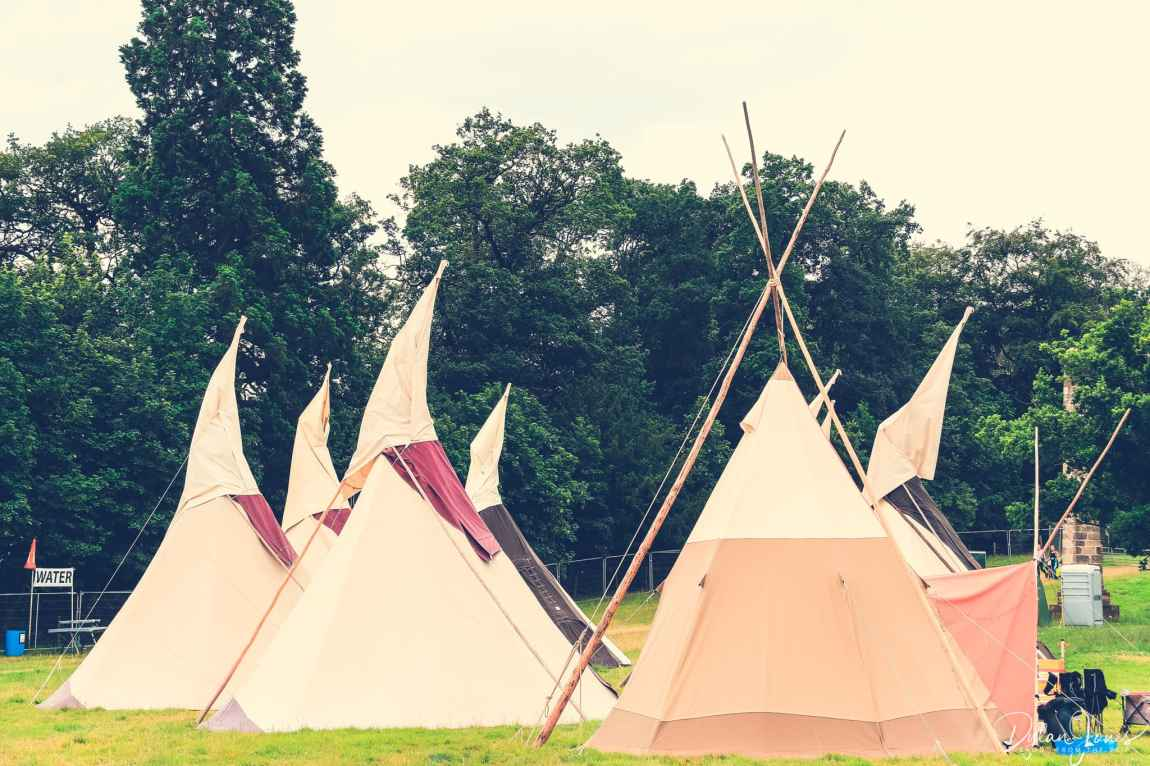 Hearthworks Tipis in the glamping area at Deer Shed Festival 10