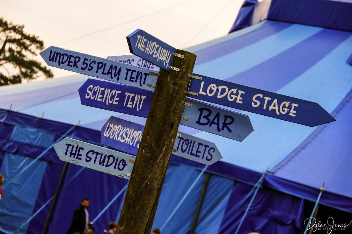 Signpost at Deer Shed Festival