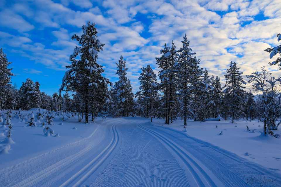 Cross country ski trails at Kakslauttanen Arctic Resort East Village