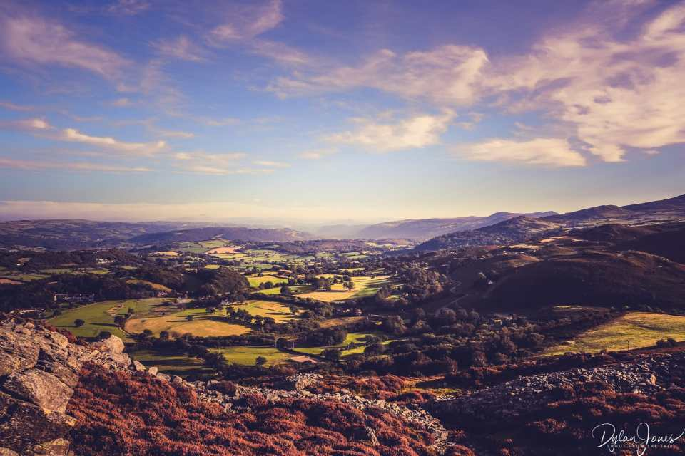 Views south looking up the Conwy Valley