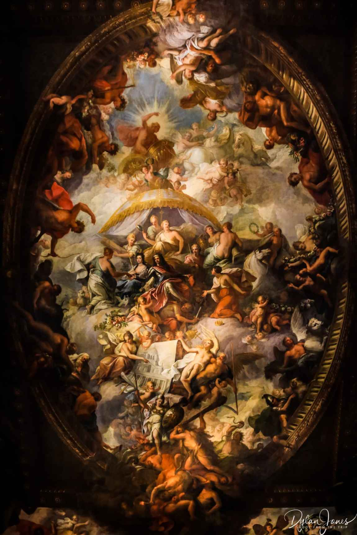 Ceiling fresco at the Painted Hall