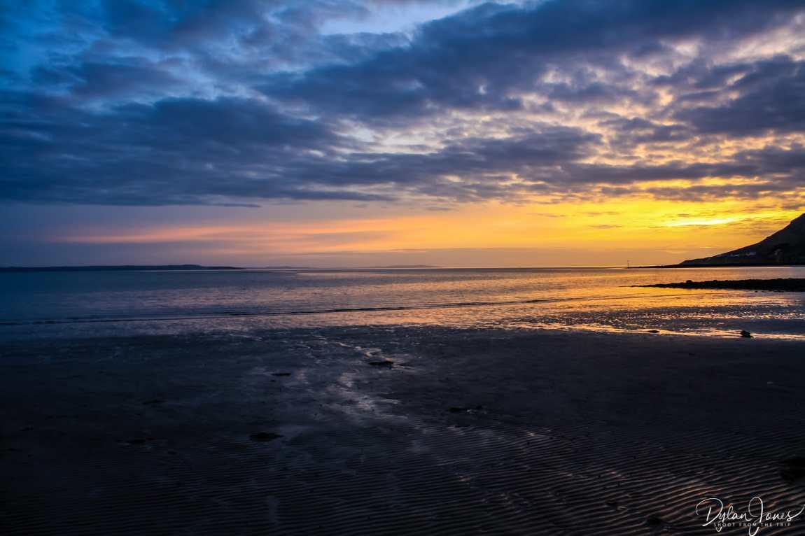 Sunset scenes at West Shore Beach