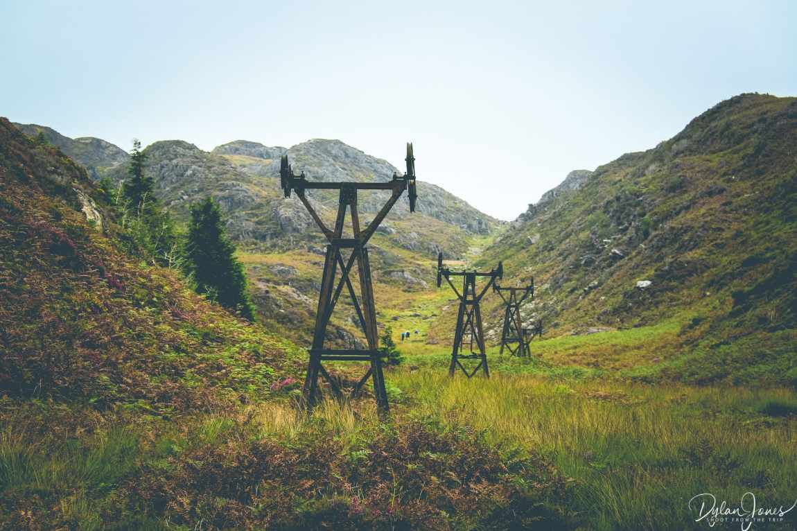 The Aerial Ropeway pylons of the old copper mines