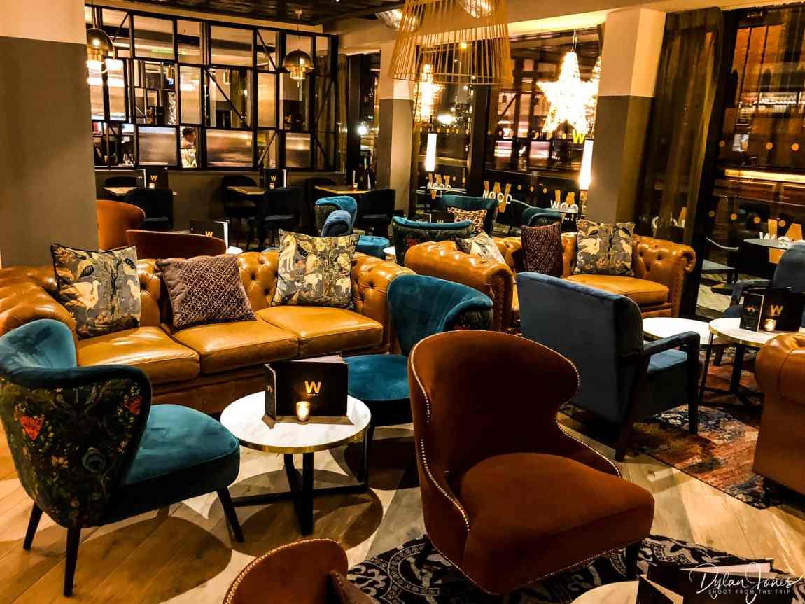 The bar area at Hotel Indigo Chester