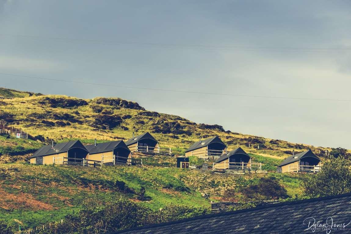 Safari Tents on the hillside