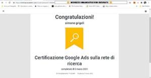 attestato Google ads genova certificato