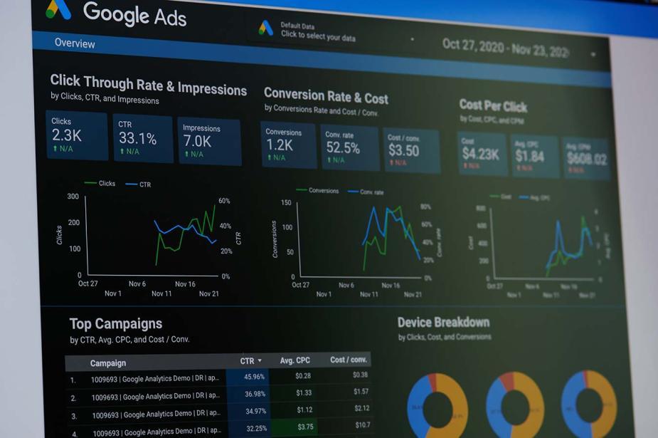 metriche e impostazioni Analytics Google Ads specialista certificato Google Ads e Adwords