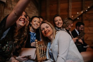 Guest selfie's before the ceremony at Bassmead Manor Barn