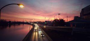 Sunset Schuylkill Expressway