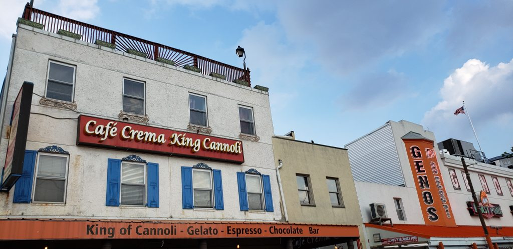 Cafe Crema and Geno's Steaks South Philadelphia.