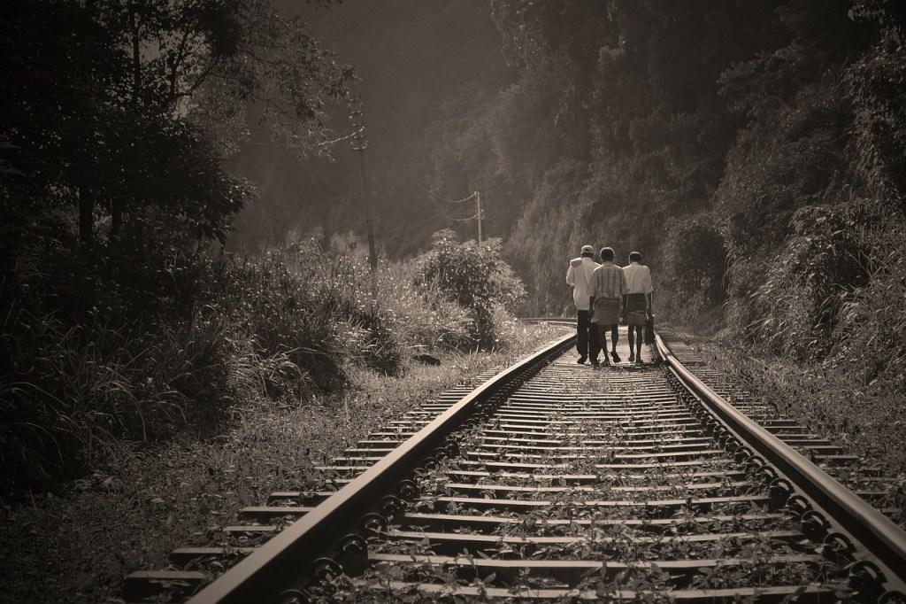 Railway Tracks.  Wikimedia Commons.