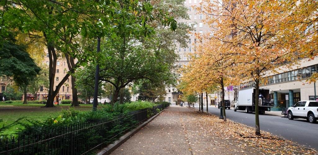 Fall colors in Rittenhouse Square.
