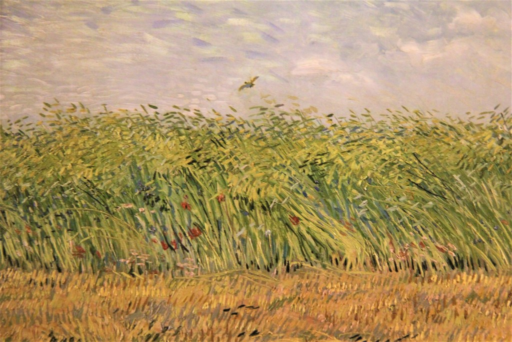 Impressionist photo of farm.