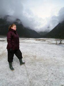 Alison on glacier