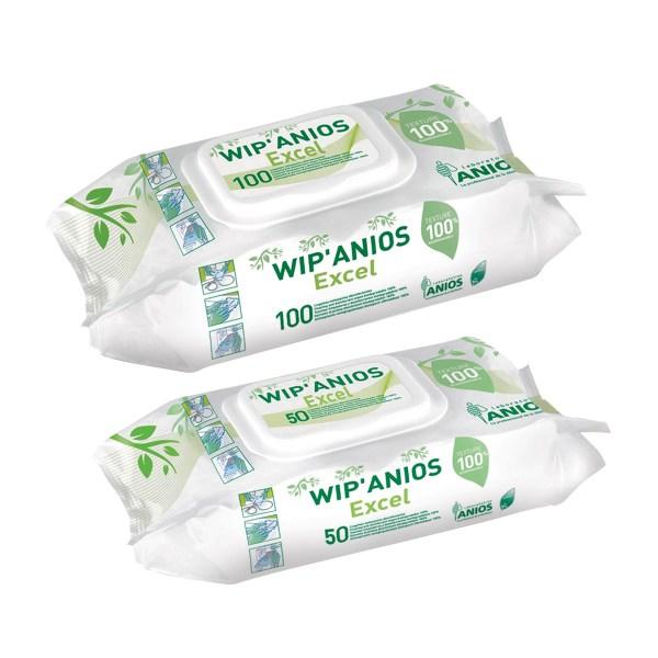lingettes anios wip'anios excel dispositifs médicaux et surfaces