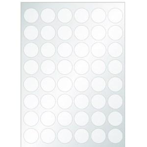Planches de 48 clips adhésifs thermophormés pour CD