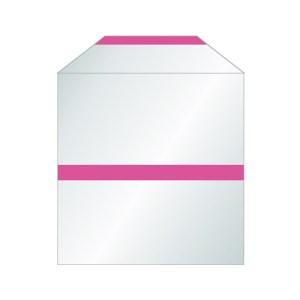 Pochette transparentes papier pour CD bande adhésive avec rabat