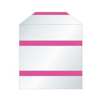 Pochettes transparentes papier pour CD bandes adhésives avec rabat