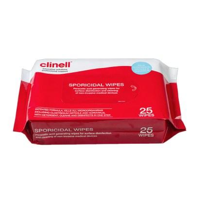 Lingettes désinfectantes sporicides Clinell